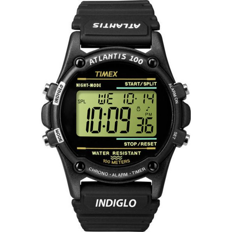 613-362 - Timex® 40mm Atlantis Quartz Black Nylon Strap Digital Watch