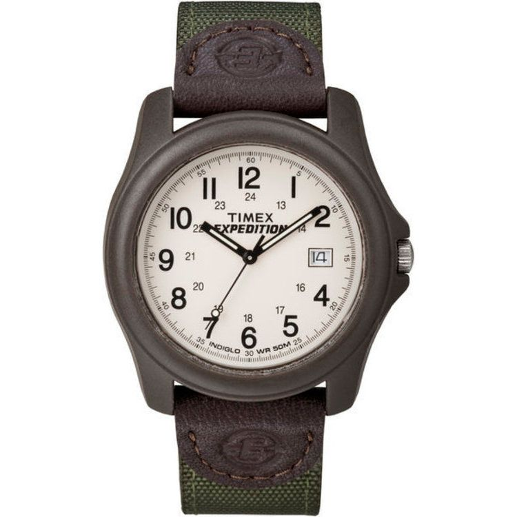 613-364 - Timex® 39mm Expedition Camper Quartz Brown Nylon Strap Watch