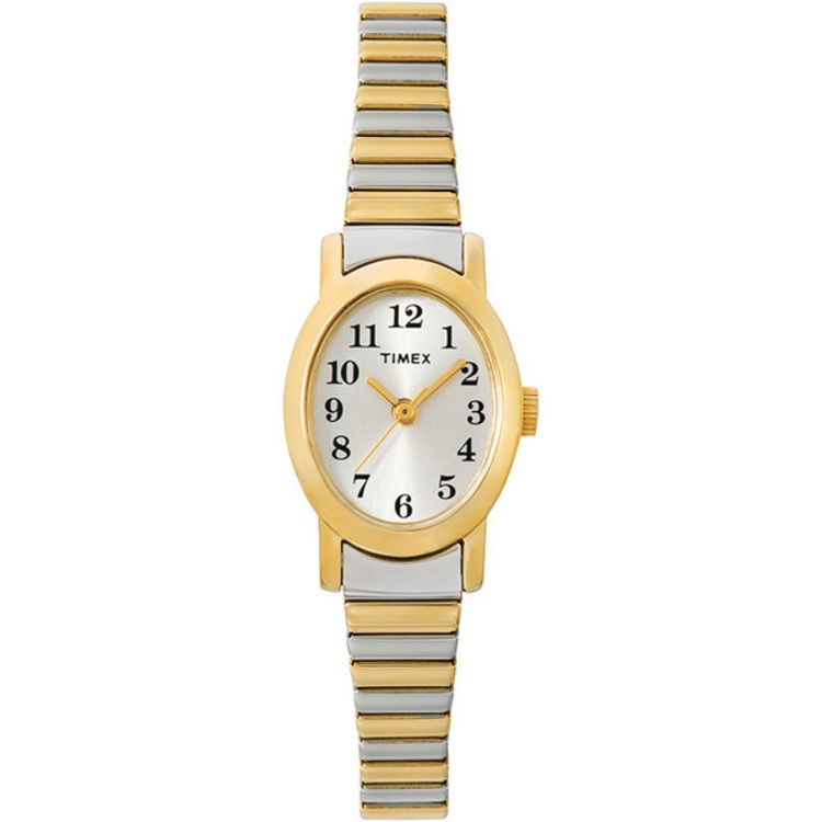 613-398 - Timex® Women's Cavatina Quartz Silver-tone Dial Stainless Steel Bracelet Watch
