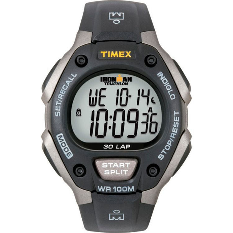 613-400 - Timex® 39mm Ironman Quartz Black Resin Strap Digital Watch