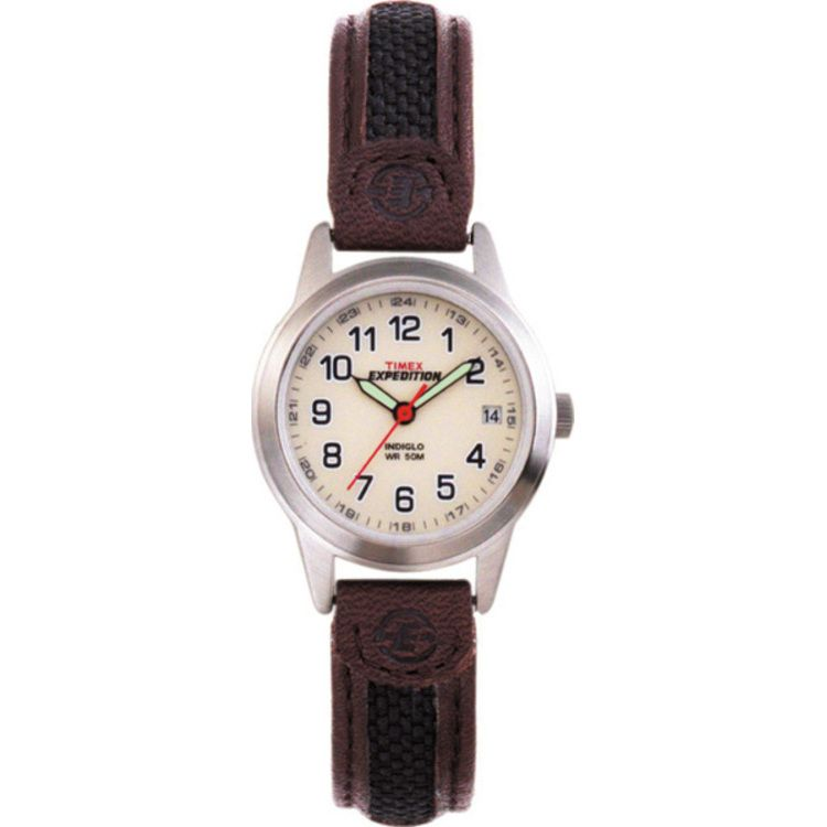 613-408 - Timex® Expedition Women's Field Quartz Leather Strap Watch
