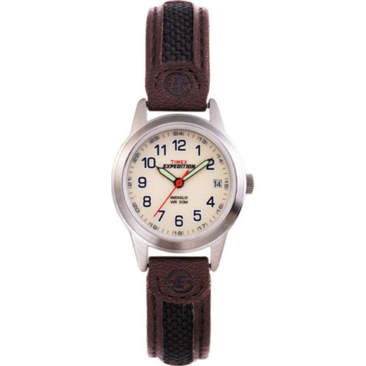 613-408 - Timex® Expedition Women's Field Quartz Leather Strap Watch