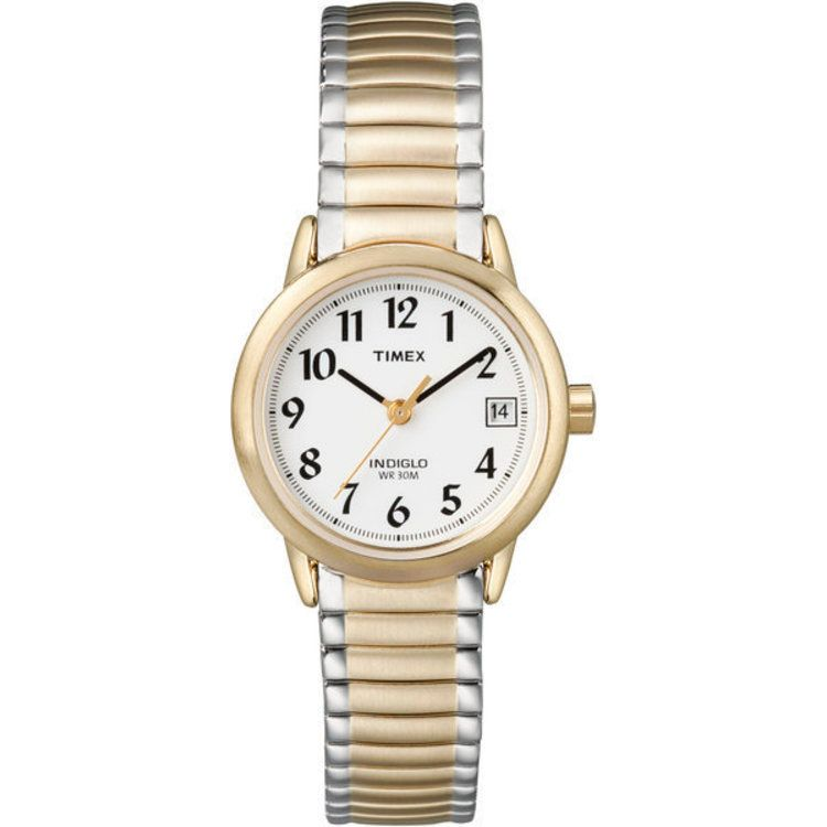 613-412 - Timex® Women's Easy Reader Quartz Two-tone Stainless Steel Bracelet Watch