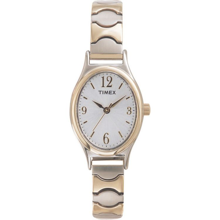 613-415 - Timex® Women's Quartz Gold-tone Stainless Steel Expansion Dress Bracelet Watch