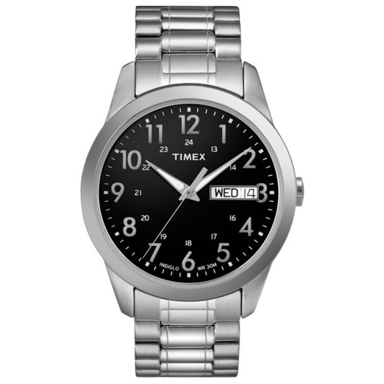613-417 - Timex® Men's Classic Expansion Quartz Stainless Steel Bracelet Watch