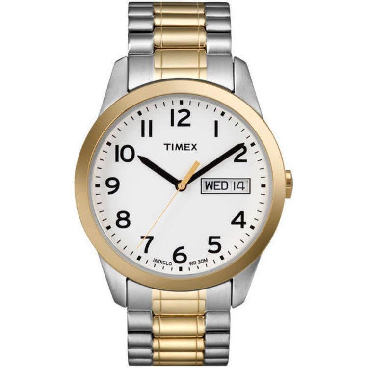 613-420 - Timex® Men's Classic Expansion Quartz Two-tone Stainless Steel Bracelet Watch