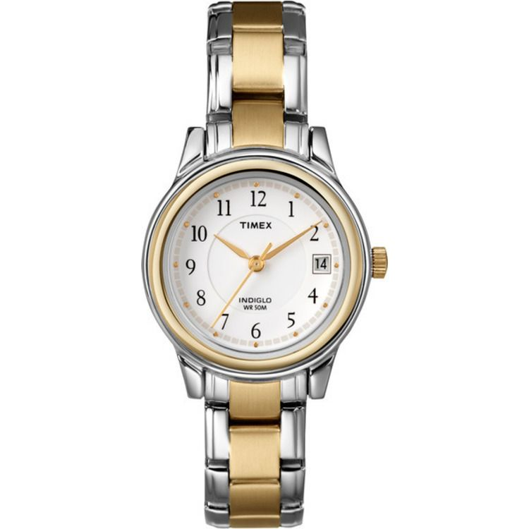 613-426 - Timex® Women's Sports Chic Quartz Stainless Steel Bracelet Watch