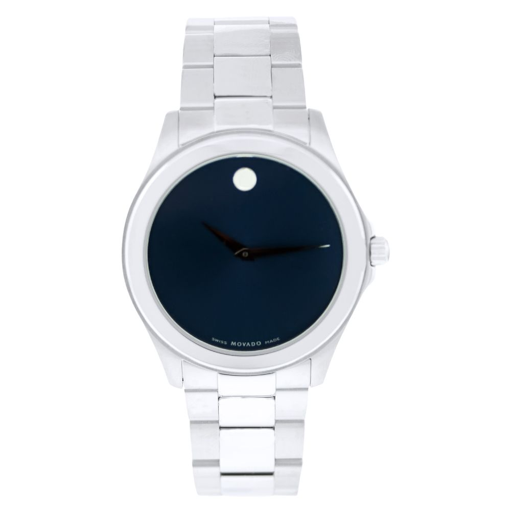 613-513 - Movado Men's Sport Swiss Quartz Blue Dial Stainless Steel Bracelet Watch