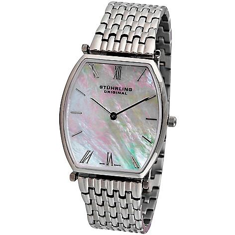 613-543 - Stührling Original Women's Meydan Quartz Mother-of-Pearl Dial Stainless Steel Bracelet Watch