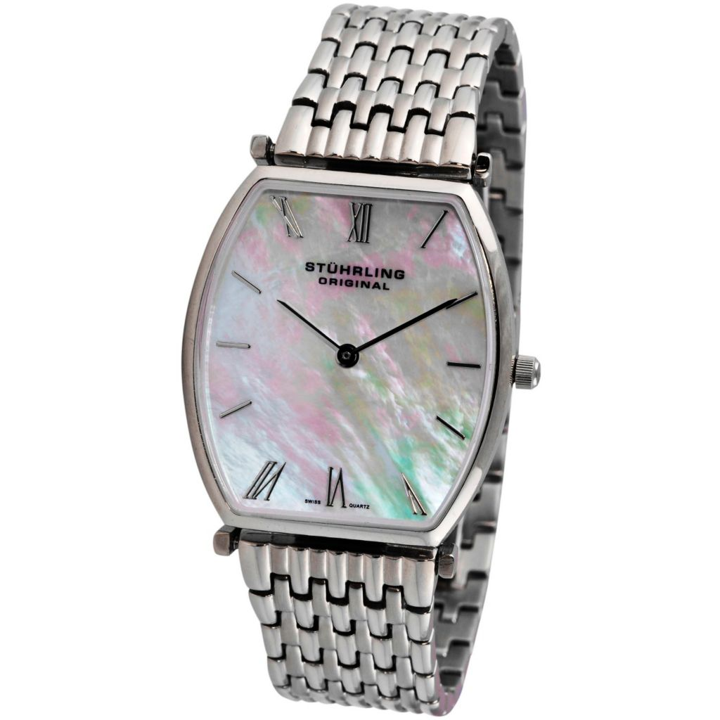 613-543 - Stührling Original Women's Meydan Quartz Mother-of-Pearl Dial Stainless Steel Bracelet Watch