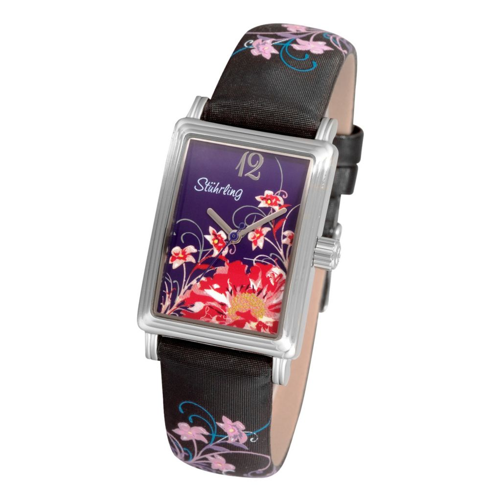 613-560 -  Stührling Original Women's Botanica Quartz Leather Strap Watch