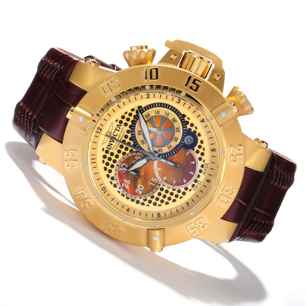 616-312 - Invicta Men's Subaqua Noma III Swiss Quartz Chronograph Leather Strap Watch