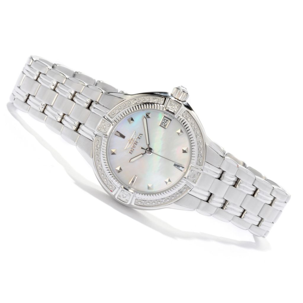 616-348 - Invicta Women's Wildflower Diamond Accented Stainless Steel Bracelet Watch