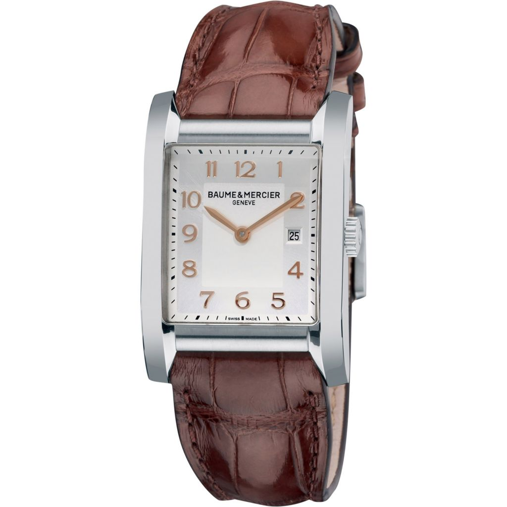 616-543 - Baume & Mercier Women's Hampton Swiss Made Quartz Brown Leather Strap Watch