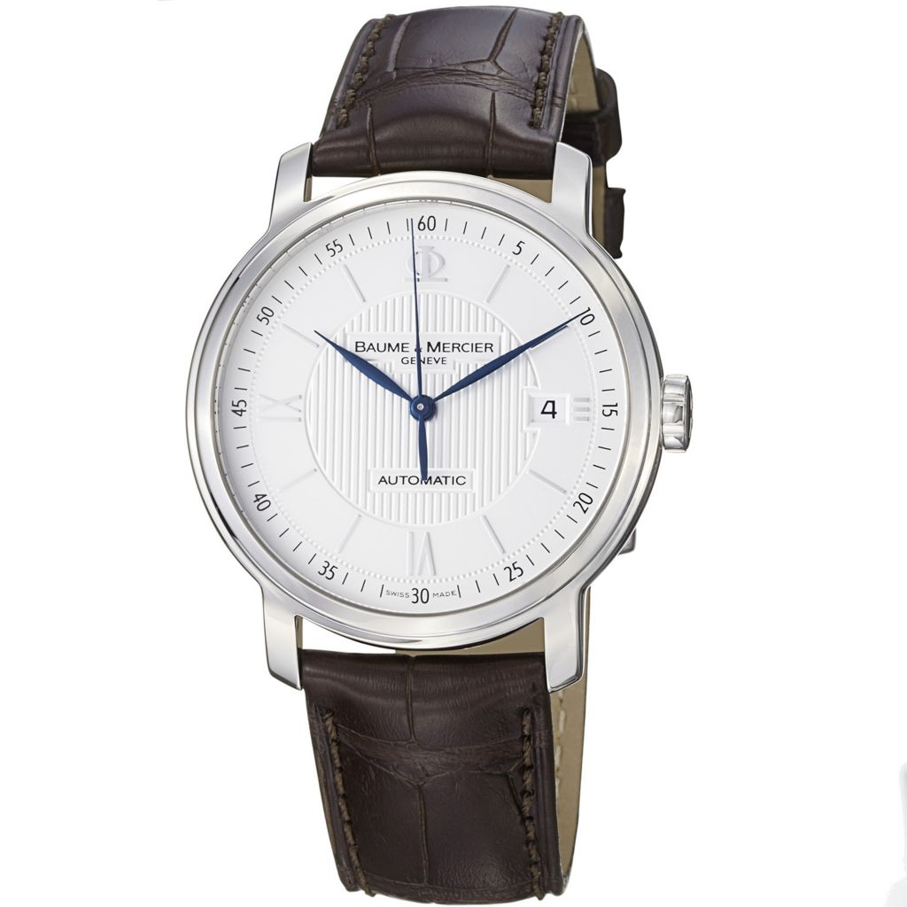 616-553 - Baume & Mercier Classima Swiss Made Automatic Brown Leather Strap Watch