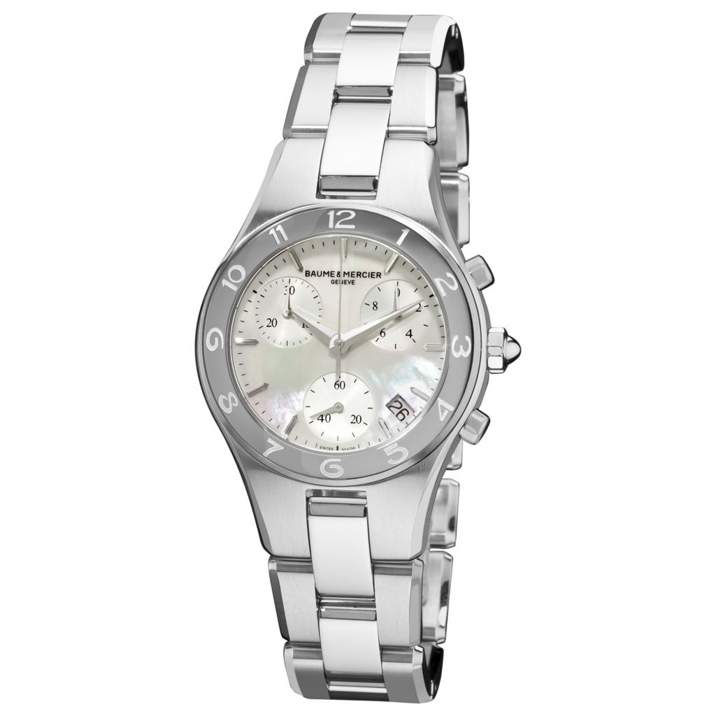 616-560 - Baume & Mercier Women's Linea Swiss Made Quartz Chronograph Stainless Steel Bracelet Watch