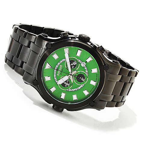 616-688 - Renato 50mm Calibre Robusta Swiss Quartz Chronograph IP Stainless Steel Bracelet Watch