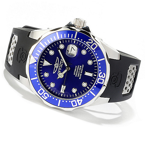 616-695 - Invicta Men's Grand Diver Automatic Stainless Steel Polyurethane Strap Watch