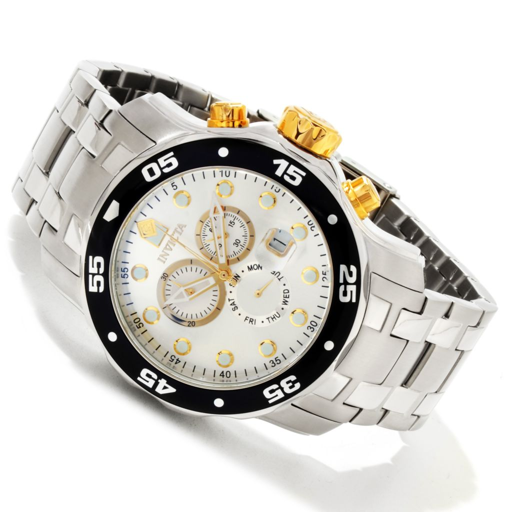 616-785 - Invicta Men's Pro Diver Scuba Quartz Chronograph Stainless Steel Bracelet Watch