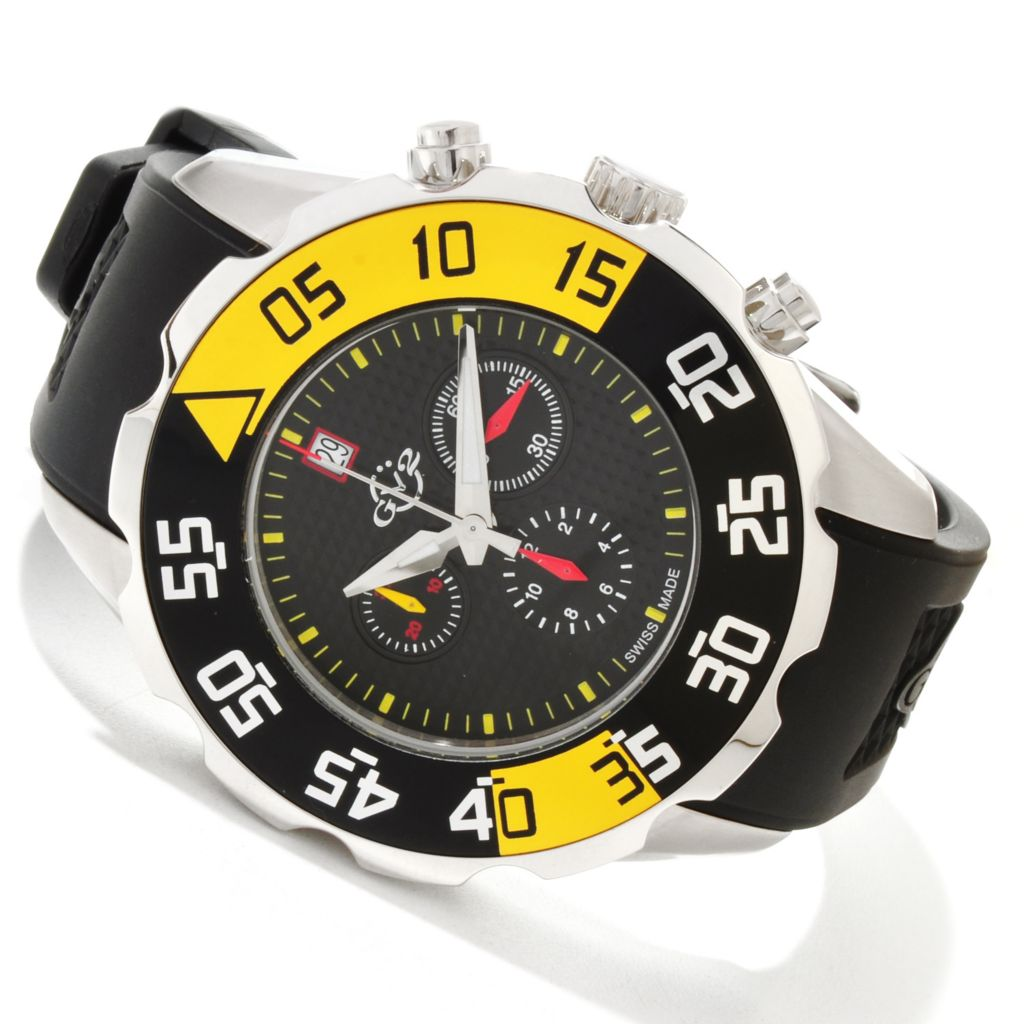 616-809 - GV2 by Gevril Men's Parachute Swiss Quartz Chronograph Limited Edition Strap Watch