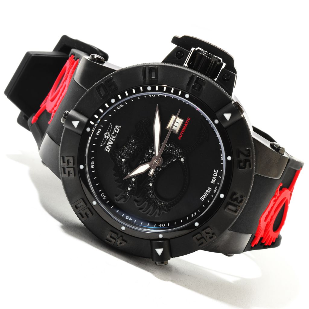 617-124 - Invicta Men's Subaqua Noma III Diamond Dragon Swiss Automatic Silicone Strap Watch