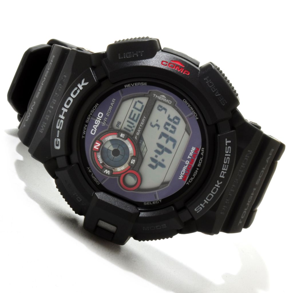 617-160 - Casio Men's G-Shock MUDMAN Solar Compass Ana-Digi Rubber Strap Watch