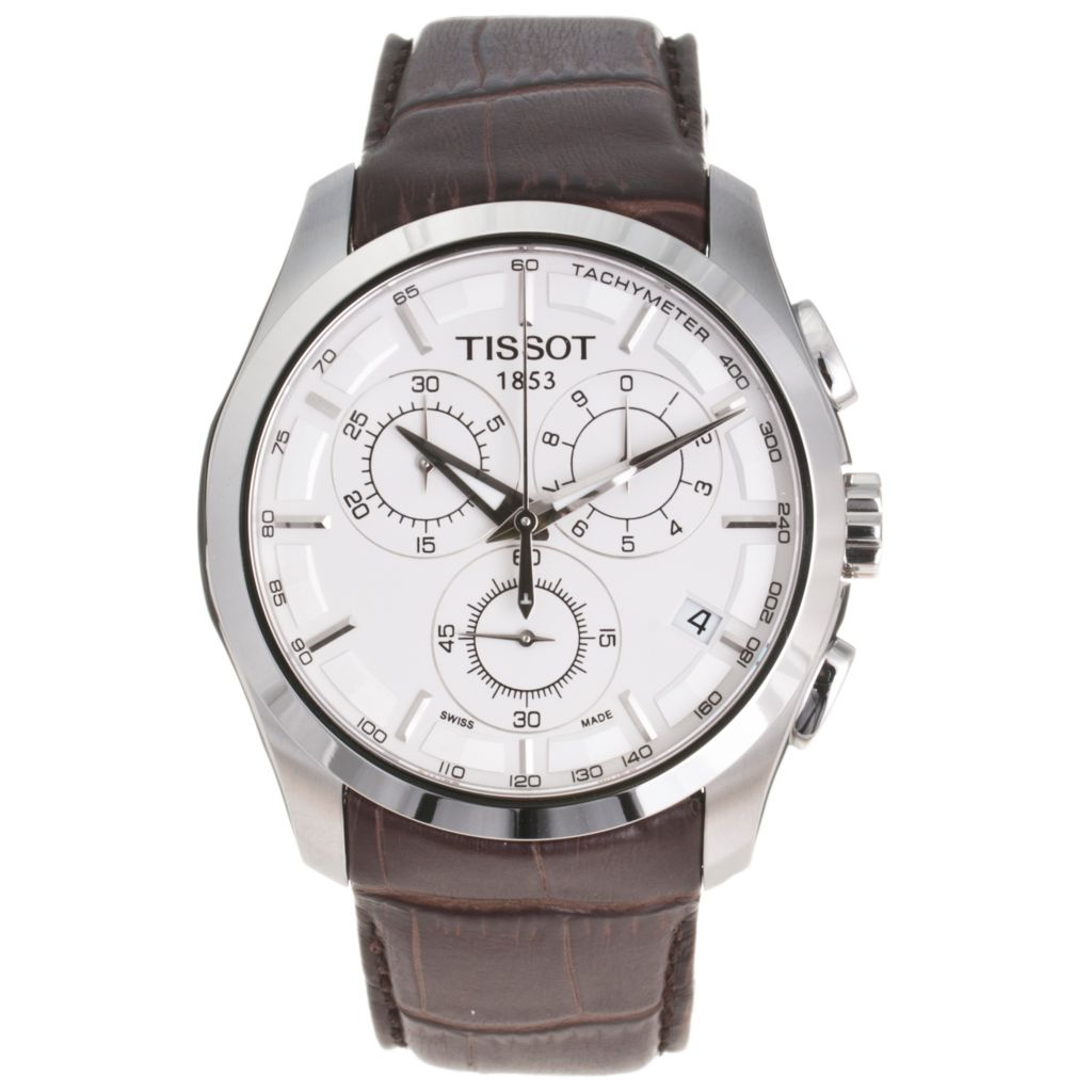 617-222 - Tissot Men's Couturier Swiss Made Quartz Chronograph Leather Strap Watch