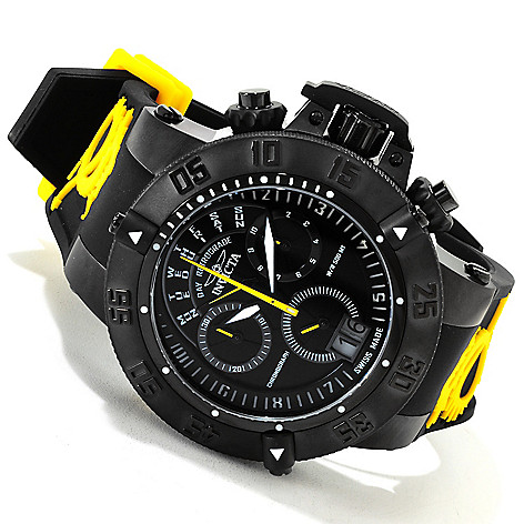 617-296 - Invicta 50mm Subaqua Noma III Swiss Made Quartz Chronograph Silicone Strap Watch