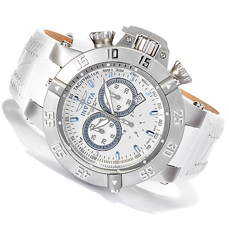 617-297 - Invicta Men's Subaqua Noma III ''Arctic Edition'' Swiss Chronograph Leather Strap Watch