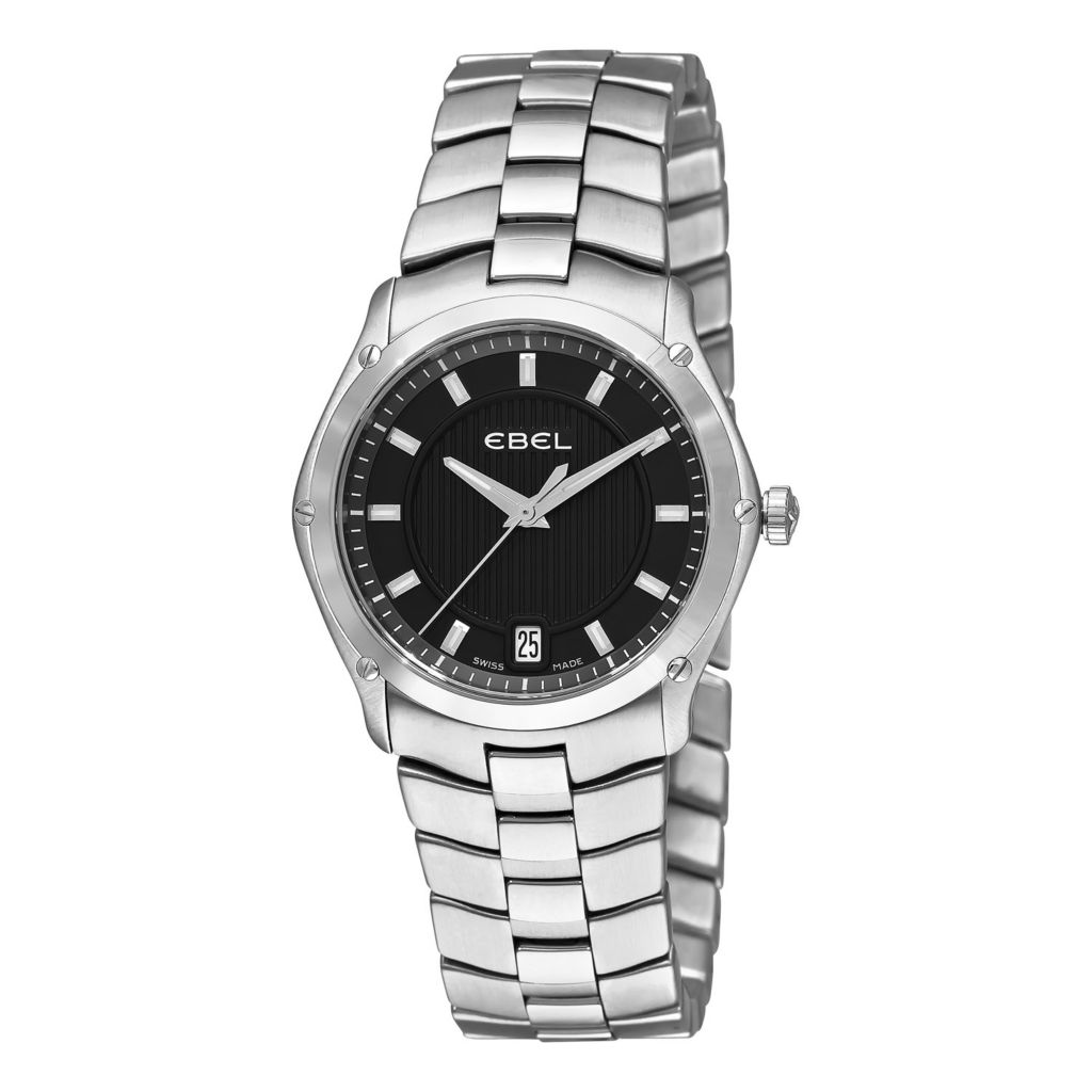 617-398 - Ebel Women's Classic Sport Grande Swiss Made Quartz Stainless Steel Bracelet Watch