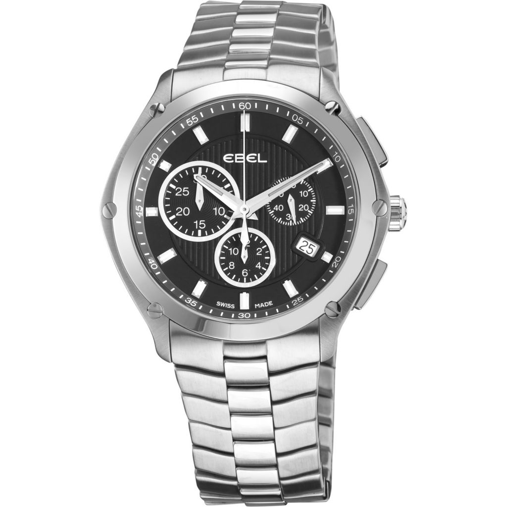 617-410 - Ebel Men's Classic Sport Swiss Made Quartz Chronograph Stainless Steel Bracelet Watch