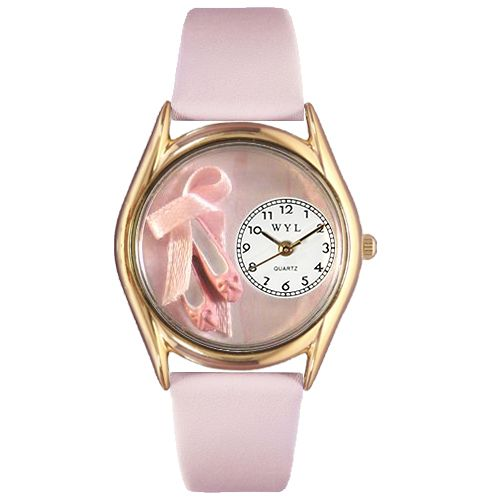 617-435 - Whimsical Watches Kid's Ballet Shoes Quartz Leather Strap Watch