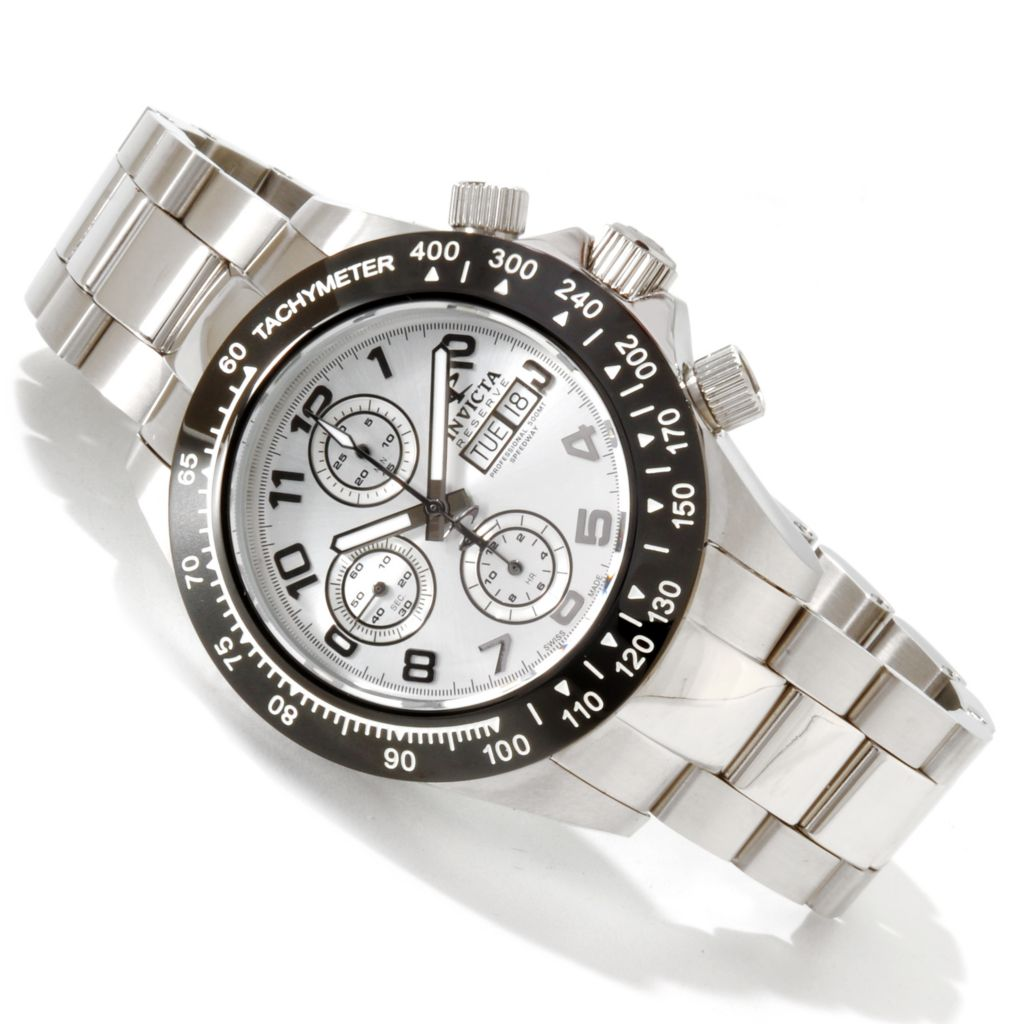 617-457 - Invicta Reserve Men's Speedway Swiss Automatic Valjoux 7750 Stainless Steel Bracelet Watch