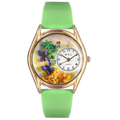 617-471 - Whimsical Watches Kid's Butterflies Quartz Leather Strap Watch