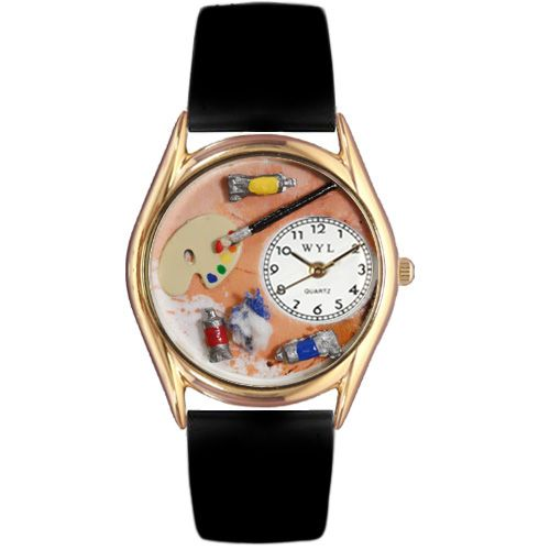 617-485 - Whimsical Watches Kid's Artist Quartz Leather Strap Watch