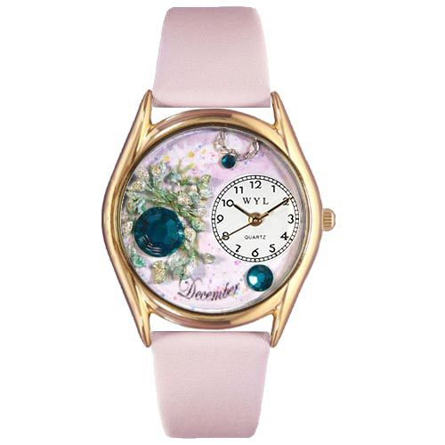 617-489 - Whimsical Watches Kid's Birthstone Quartz Leather Strap Watch