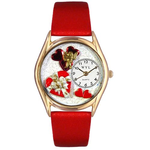 617-542 - Whimsical Watch Kid's Valentine's Day Quartz Leather Strap Watch