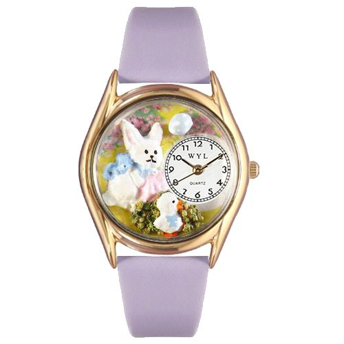 617-564 - Whimsical Watch Kid's Easter Quartz Leather Strap Watch