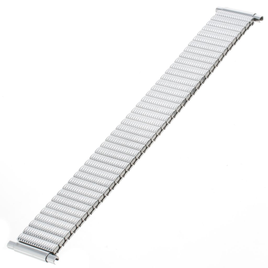 617-644 - Republic Men's 16-22mm Straight Squeeze End Stainless Steel Watch Bracelet