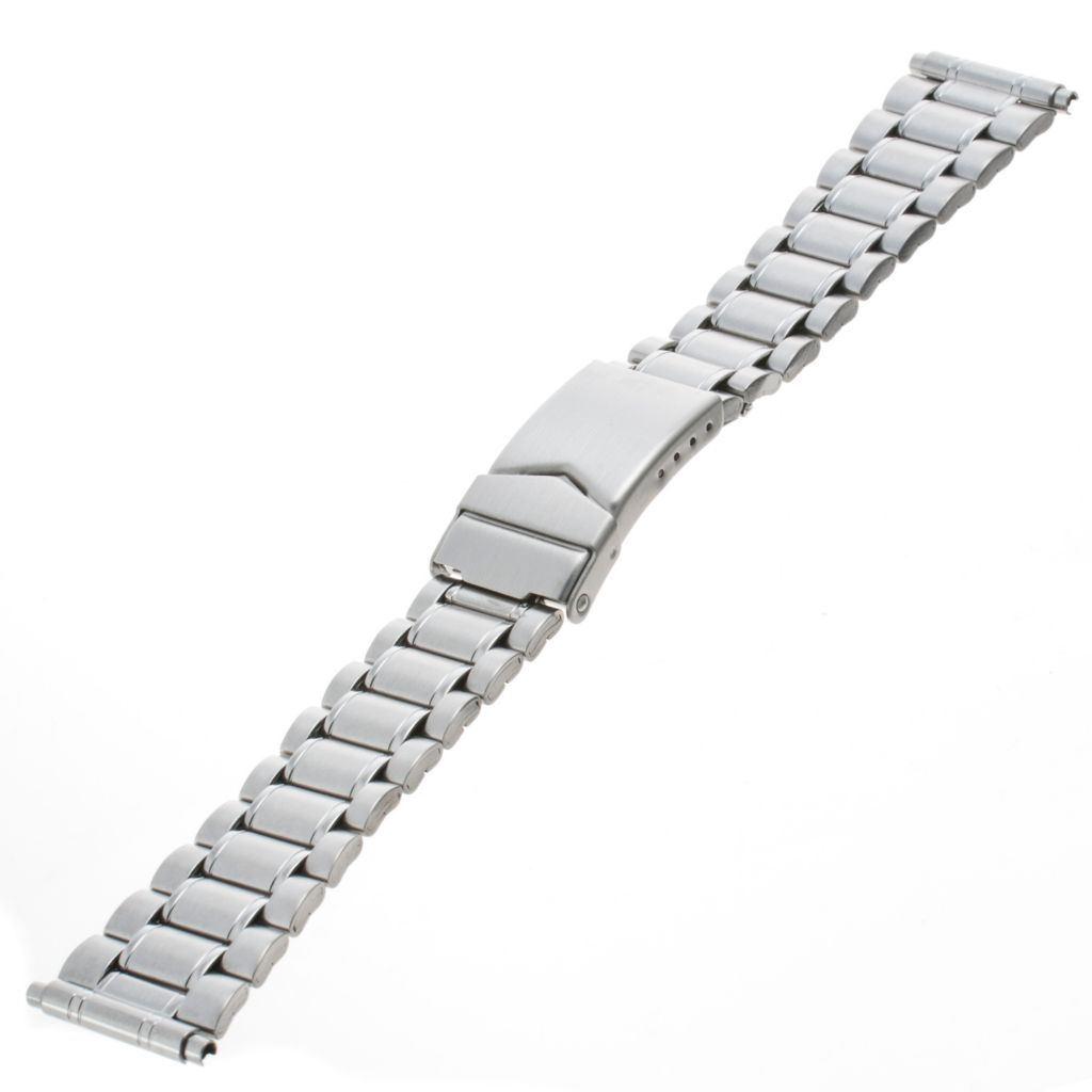 617-651 - Republic Men's 18-22mm Straight Squeeze End Stainless Steel Watch Bracelet