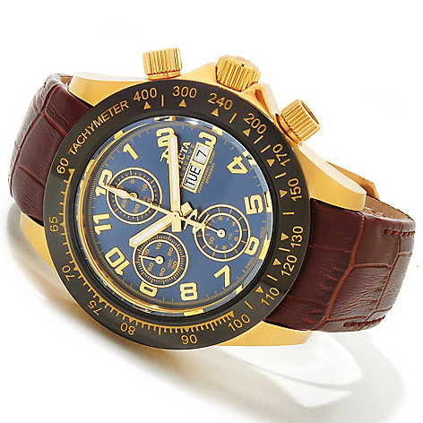 617-765 - Invicta Reserve Men's Speedway Elegant Automatic Swiss Valjoux 7750 Leather Strap Watch