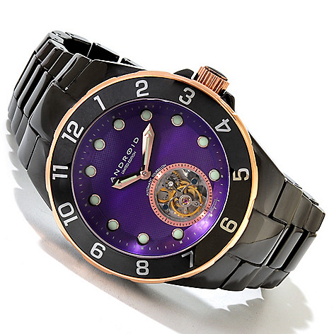 617-788 - Android 50mm Hercules Limited Edition Automatic Flying Tourbillon Ceramic Bracelet Watch