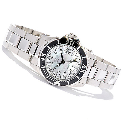 617-853 - Invicta Women's Pro Diver Abyss Mother-of-Pearl Dial Stainless Steel Bracelet Watch