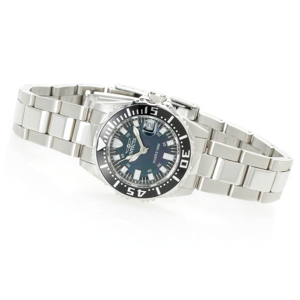 617-858 - Invicta Women's Pro Diver Abyss Quartz Mother-of-Pearl Dial Two-tone Bracelet Watch