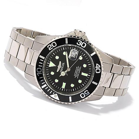 617-897 - Invicta 45mm Pro Diver Titanium Automatic Bracelet Watch w/ Three-Slot Dive Case