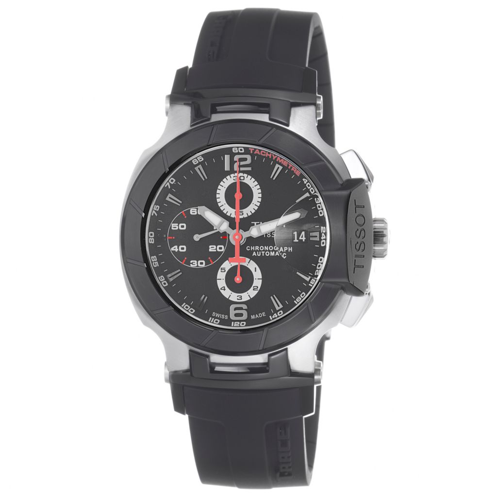 617-901 - Tissot Men's T-Race Swiss Made Automatic Chronograph Rubber Strap Watch