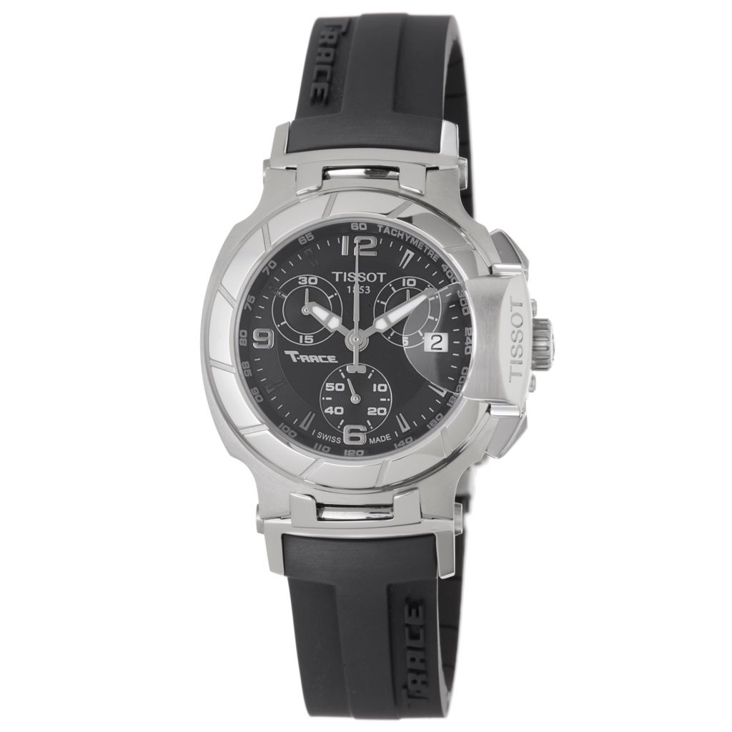 617-913 - Tissot Women's T-Race Swiss Made Quartz Chronograph Rubber Strap Watch