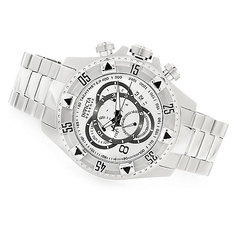 617-979 - Invicta Reserve 52mm Excursion Swiss Chronograph Bracelet Watch w/ Three-Slot Dive Case
