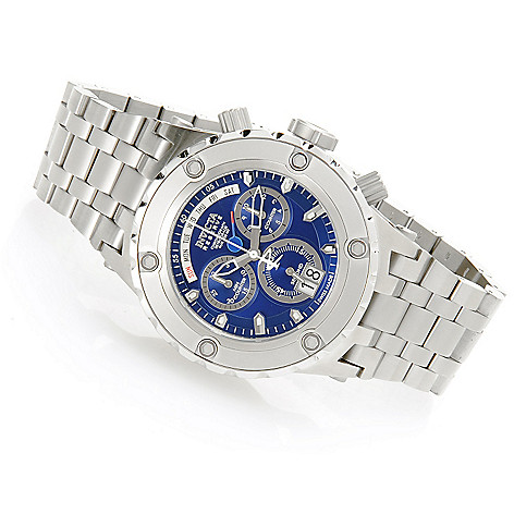 618-266 - Invicta Reserve 52mm Specialty Subaqua Swiss Made Quartz Chronograph Stainless Steel Bracelet Watch