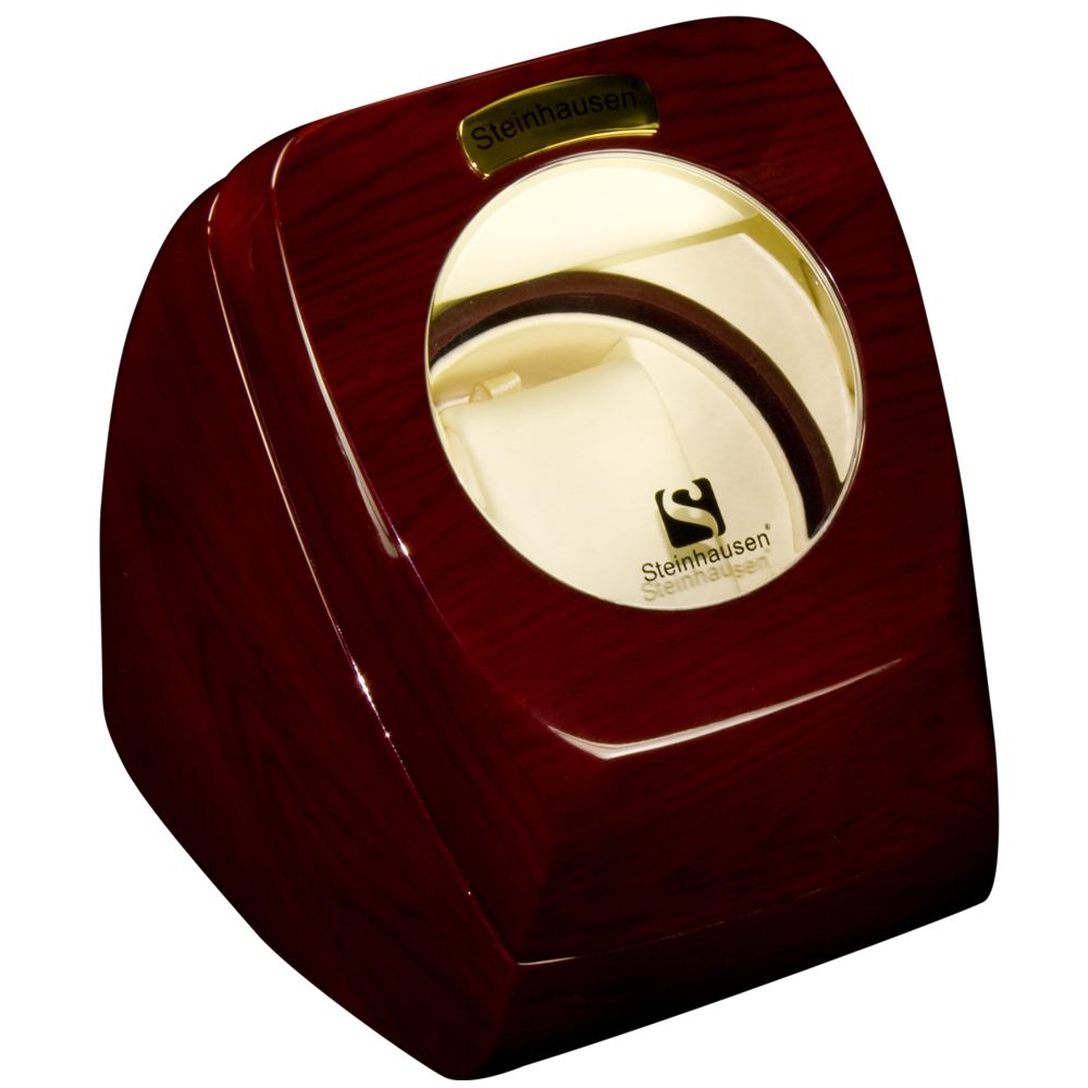 618-270 - Steinhausen Single Watch Winder w/4-mode Timer and Bidirectional Winding